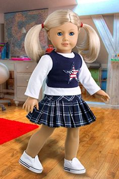 Star Student - White Blouse, Skirt, Tank Top and Sneakers - 18 Inch American Girl Doll Clothes DreamWorld Collections http://www.amazon.com/dp/B00JQVZV8K/ref=cm_sw_r_pi_dp_SjJjub00KXT4M