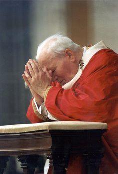 Blessed John Paul II Pray for us. seeing him brings tears to my  eyes