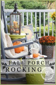 FALL ROCKING CHAIR VIGNETTE-a sassy fall sitting area that anyone can copy- Make one yourself!stonegableblog.com