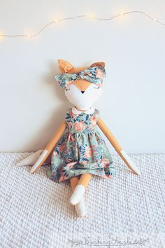 MADE TO ORDER: Fox Doll Handmade Doll Fox Plush от TheWinkingApple