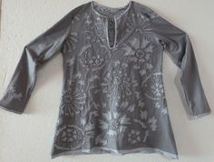 Nr. 36 , revers applique with buggle beads, own stencil