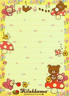 Rilakkuma Bear Memo Pad by San-X Japan kawaii - Memo Pads - Stationery - kawaii shop modeS4u