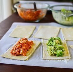 homemade hot pockets. Fill them with anything! These would be great to bake…