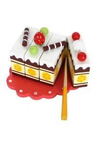 Gâteau Anniversaire à Découper en bois réutilisable - Jouets Rétro - Jeux Vintage - Décoration chambre enfants