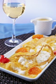 Citrussy crepes soufflées