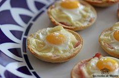 Las recetas de Masero: Tartaletas de pan de molde con beicon y huevo