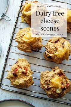 Dairy free cheese savoury scones from The Flourishing Pantry. Tasty and easy cheese and sundried tomato scones. Perfect for those with lactose intolerance or allergies #theflourishingpantry #healthyeating #allergyawareness #dairyfree #dairyfreerecipes