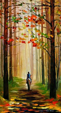 bosque y caballo
