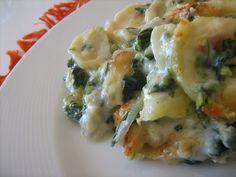 As Minhas Receitas: Bacalhau Gratinado com Espinafres