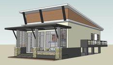 แบบบ้านกึ่งร้านค้า สไตล์โมเดิร์น 2 ห้องนอน 2 ห้องน้่ำ ออกแบบอย่างเป็นสัดส่วน ลงตัวทั้งการอยู่อาศัยและการค้าขาย | NaiBann.com