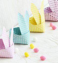 Origami Easter bunny baskets (paper folding) // Origami húsvéti nyuszi formájú kosarak ( papírhajtogatás ) // Mindy - craft tutorial collection // #crafts #DIY #craftTutorial #tutorial #GasztroAjándék #EdibleGifts