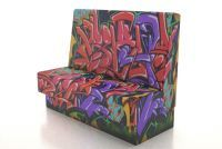 A new seating range aimed at cool restaurants and bars is available through Uk furniture makers www.wishinteriors.com , any imagery or patterns can be printed on contract grade fabrics to enhance your project.