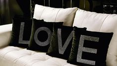 Love and diamonds velvet cushions. Olga Sismanidou / Miracles
