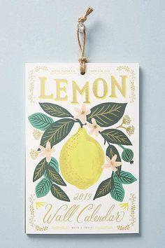 Rifle Paper Co. Lemons 2019 Calendar