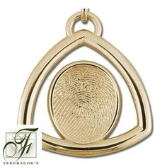 14K Yellow Gold Triangle - 17mm Fingerprint - (Does not include chain) $1309.99 Fingerprint Jewelry, Triangle, Chain, Mirror, Yellow, Prints, Gold, Mirrors, Printmaking
