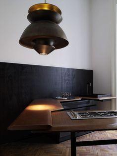 very minimal and modern custom kitchen, Masculin interiors by Vincenzo De Cotiis | Plastolux