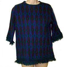 Beeline mod acrylic vintage sweater  60s medium by pinehaven2, $24.50