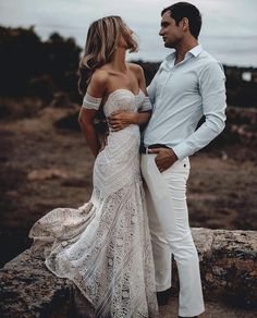 """5,905 Likes, 42 Comments - Wedding Dresses (@weddingdressesofficial) on Instagram: """"Forever has never looked so good ✨ Love this lace and fit of this gown! Beautiful couple captured…"""""""