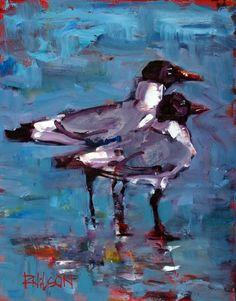 Gull Friends, painting by artist Rick Nilson