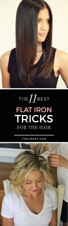 Flat irons are not just to achieve sleek straight hair, you'll be surprised to know that you can do trendiest tricks to your hair using them. Check out these flat iron tricks!
