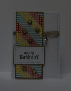 Cards - Happy Birthday - Washi Tape