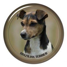 Brazilian terrier 3D sticker - #brazilianterrier