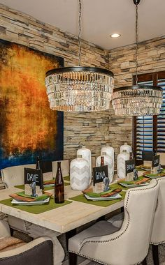 No reservations needed…. #diningroom #dreamhome #az #foodie #chandeliers