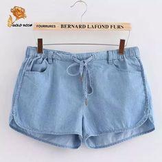 Été femmes Jeans Shorts amples coton pantalons courts américain AA Casual taille mince femme Short en jean P088 dans short de Accessoires et vêtements pour femmes sur AliExpress.com   Alibaba Group