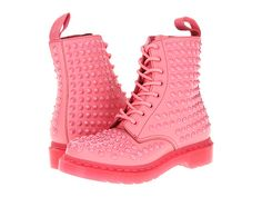 Dr. Martens Spike All Stud 8-Eye Boot Acid Pink