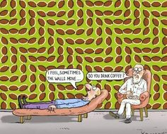 wow! it only moves if your eyes move, stare at one bean and it stops!