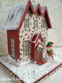 Lilicutes by Kakuseisha Christmas Village Houses, Christmas Town, Putz Houses, Christmas Villages, Vintage Christmas, Gingerbread Houses, Home Crafts, Diy Crafts, Rudolph Christmas