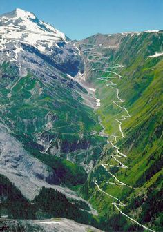 stelvio via Bormio, we cross the Stelvio pass (Passo dello Stelvio), at 2757 meters it is the second highest paved mountain road in the alps. Regarded by the motorists as one of the most challenging roads in the world, it has 60 hairpins with 48 of them on the northern / eastern ramp. I wanna race down this in a far too expensive and fast car!
