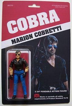 Custom made 3 3/4 Marion Cobretti Cobra vintage style action figure Stallone | eBay