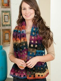 Origi-pin: Noro Stole featured in Fashions to Flaunt Crocheted With Noro Yarns by Jenny King. Go here to order: http://www.anniescatalog.com/detail.html?prod_id=91993