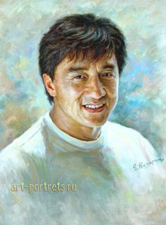 Jackie Chan Portrait Painting by Drawing-Portraits Jackie Chan, Celebrity Drawings, Celebrity Portraits, Artistic Visions, Watercolor Portraits, Drawing Portraits, Portraits From Photos, Oil Portrait, Face Photo