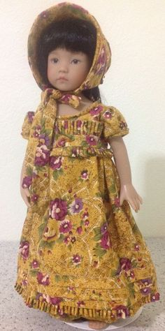 "13"" Effner Little Darling BJD fashion Garden Print Regency set OOAK handmade  #ClothingAccessories. SOLD for $39.99 on 4/30/15."