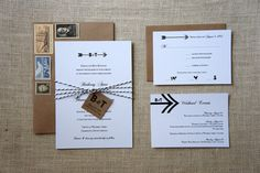 I am kind of obsessed with using arrows throughout the wedding. These are super cute. By DawnCorrespondence on Etsy.
