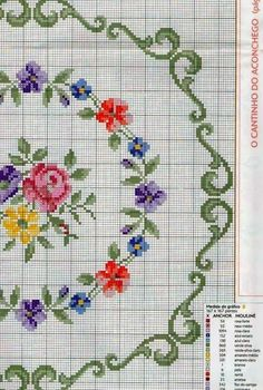 This Pin was discovered by Iru Cross Stitch Pillow, Cross Stitch Rose, Cross Stitch Borders, Cross Stitch Flowers, Cross Stitch Charts, Cross Stitch Designs, Cross Stitching, Cross Stitch Patterns, Ribbon Embroidery