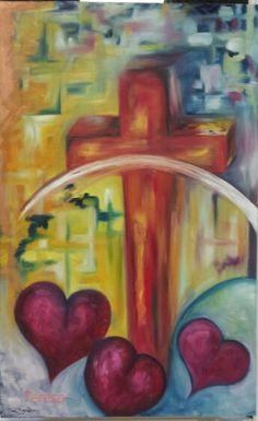 Amor y Sacrificio óleo by Tere Gonzalez