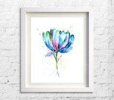 Art Print Painting Watercolor Print Nature by Watercolorflower