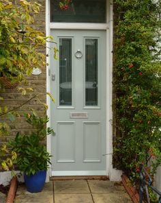Victorian Front Doors are extremely popular, at London Door Company we have been handcrafting high quality doors for over 30 years. Front Door Glass Panel, Timber Front Door, Painted Front Doors, Cottage Front Doors, Victorian Front Doors, Cottage Door, Best Front Doors, Exterior Front Doors, Front Door Design