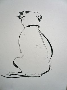 """Fine Art Greeting Card """"Ronnie"""" Pen and Ink by Sally Muir"""