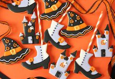 Postreadicción galletas decoradas, cupcakes y pops: Galletas decoradas de Halloween
