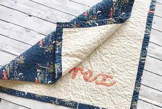 Woodland Organic Baby Quilt, woodland crib bedding, organic baby bedding, organic baby quilt, personalized modern nursery