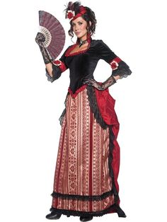 Fancy Dress Costumes - Wild west fancy dress costumes - Western Dress - The Wild West - Themed Fancy-Dress - Party products, wedding balloons and novelties in Peterborough Costumes Western, Robes Western, Saloon Girl Costumes, Western Dresses, Adult Fancy Dress, Ladies Fancy Dress, Indian Accessories, Fancy Dress Accessories, Saloon Western