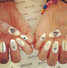 Evil eye nail art by Esnail LA