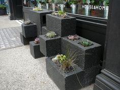 cinder block planter london UK - saf affect