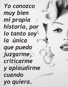 Marilyn Monroe Frases, Curious Facts, Motivational Phrases, Norma Jeane, Power Girl, More Than Words, Spanish Quotes, Woman Quotes, Self Help