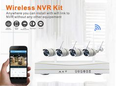 Self-Contained 720P 4CH Smart Home Plug and Play Wireless Security IP Camera System Outdoor ZMKW9005 at Banggood