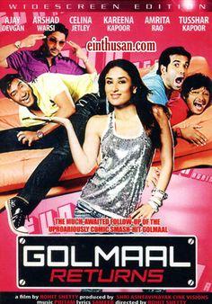Golmaal Returns Hindi Movie Online - Ajay Devgan, Arshad Warsi, Shreyas Talpade and Tusshar Kapoor. Directed by Rohit Shetty. Music by Pritam. 2008 Golmaal Returns Hindi Movie Online.